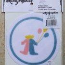 "Dollhouse Miniature MiniGraphics Baby 6"" Round Rug Balloon Design NIP"