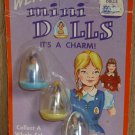 Vintage Set of three Wearable Charm Mini Dolls in cases Imperial Toy Co. 1969 NIP