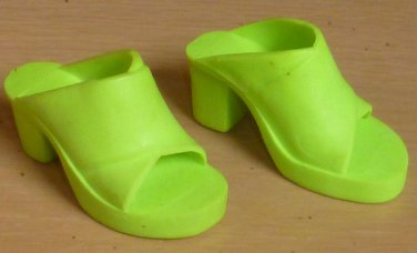 Ideal Crissy Family Tiffany Taylor Lime Green Doll Mule Shoes