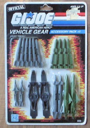 Hasbro G.I. GI Joe Vehicle Gear Accessory Pack 1 1986 MIP