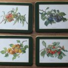 Vintage Somerset Coasters Rectangle 4 Fruits Orig Box Canada
