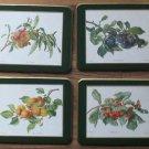 Vintage Somerset Coasters Rectangle 4 Fruits Orig Box Canada