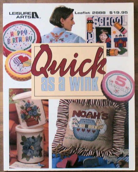 Large Book Quick as a Wink Cross Stitch Leisure Arts 1996 OOP