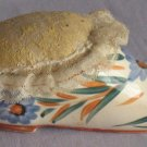 Occupied Japan Painted Flowers Shoe Pin Cushion