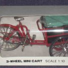 Red Three Wheel Transported Bike 1:10 Scale Metal MIB