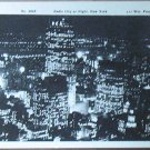 Vintage Real Picture Postcard Radio City NY at Night Frange