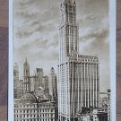 Vintage Real Picture Postcard Woolworth Building at Dawn NYC