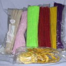 Chenile Pipe Cleaners 7 Colors Vintage and Newer Hundreds