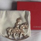 GORHAM Silver Rocking Horse Ornament 1984 with Orig Box