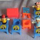 Vintage Disney Miniature School Set with 3 Disney Figurines