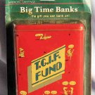 TGIF Red Cartoon Tin Bank American Greetings NIP 1985
