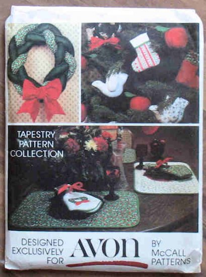 Vintage McCall 5380 Christmas Tapestry Pattern Exclusively Avon NIP
