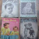 Vintage Baby Crochet and Knitting Booklets 1940-50
