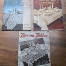 Vintage Crochet Books Tablecloths Placemats 1930-1940s