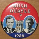 Political Button George Bush For President and Dan Quayle 1988