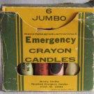 Vintage Novelty Candles Emergency Crayon Candles Hong Kong