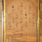 Vintage Wood Metal Working Miniature Bagatelle Game Cohn Inc NY