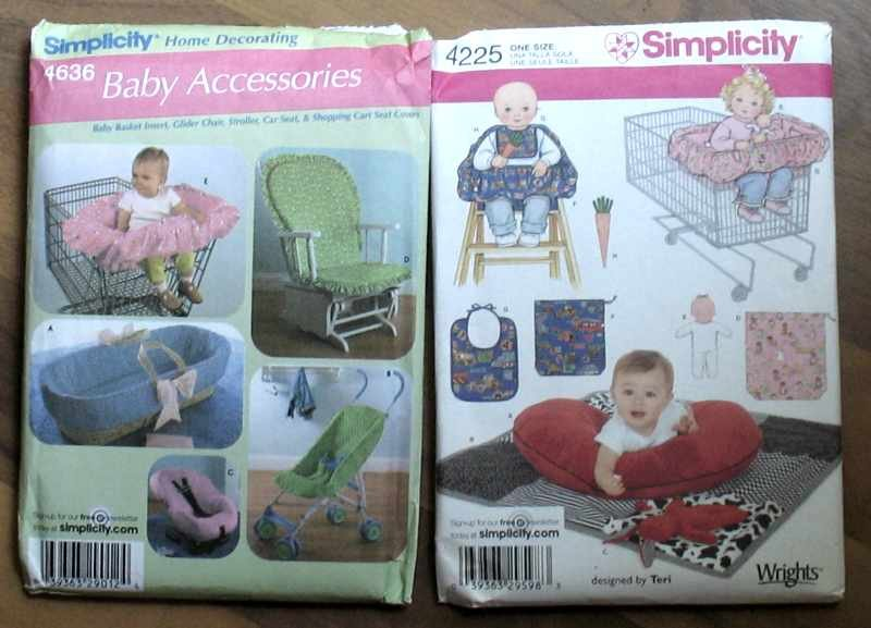 Two Simplicity Baby Accessories Sewing Patterns 4225 4636 NIP