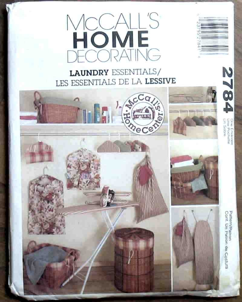 McCall's Pattern 2784 Laundry Room Essentials 2000 NIP