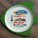 Vintage Atlantic City Landmarks Souvenir Dish Fish Shaped MIJ