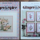 Cross Stitch X-Stitch Ginger & Spice Flower Booklets