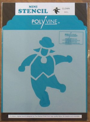 Polyvine The Painted Finish Mylar Mini Stencil CLOWN NIP