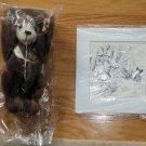 1996 QVC LE Clifford Berryman Steiff Mohair Bear with Cartoon Print NIP