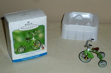 Hallmark Disney 1934 Mickey Mouse Velocipede Ornament NIB 2001