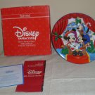 Schmid Disney Merry Mickey Claus Christmas Collector Plate 1989