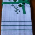 Olive and Thyme St. Patrick's Day Kitchen Towels Cotton New