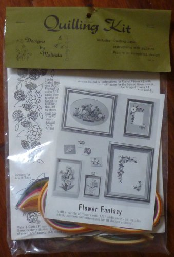 Vintage Designs by Malinda Lake City Crafting Quiling Kit Flower Fantasy 1981 NIP