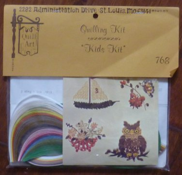 Vintage Quill Art Quill Kit #768 Kids Kit Owl Plants Ship 1977 NIP