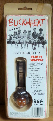 Vintage Little Rascals Our Gang Buckwheat LCD Quartz Flip-it Watch