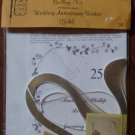 Vintage Quill Art Quill Kit #743 Wedding Invitation Memory with Border Gold NIP