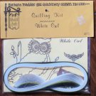 Vintage Quill Art Quill Kit #405 White Owl  NIP