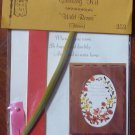 Vintage Quill Art Quill Kit #353 Home Verse with Rose Border NIP