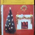 Vintage 1979 Quill Art Quill Kit #339 Mini Christmas Ornaments Holly and Garland NIP