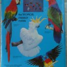 Parrot Mobile Cardboard Kit Nine Colorful Species 1989 Science Academy NIP