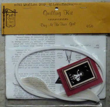 Vintage Quill Art 1985 Quill Kit #956 Girl at the Fair NIP