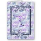 Set of 10 Purple Flowers Wedding INVITATIONS Envelopes Included kjsweddingshop