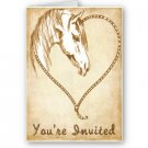 Set of 10 WESTERN Wedding INVITATIONS Envelopes Included kjsweddingshop