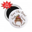 Set of 100 WESTERN Save The Date Wedding ROUND MAGNETS 2.25 INCH kjsweddingshop