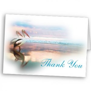 Set of 8 BEACH Wedding THANK YOU CARDS Envelopes Included kjsweddingshop