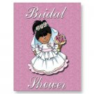 African American Set of 10 Bridal Shower Invitations POSTCARDS kjsweddingshop