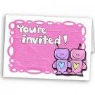 Set of 20 Love robots BRIDAL SHOWER INVITATIONS Envelopes Included kjsweddingshop