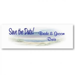 Set of 20 Save The Date BEACH Wedding Skinny Cards kjsweddingshop