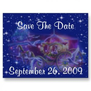 Set of 100 PRINCESS Save The Date Wedding POSTCARDS kjsweddingshop