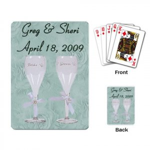 Wedding Deck of Custom Playing Cards Two Glasses for wedding favors kjsweddingshop
