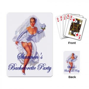 Vintage Sexy Bride Bachelorette Party favors Deck of Custom Playing Cards kjsweddingshop