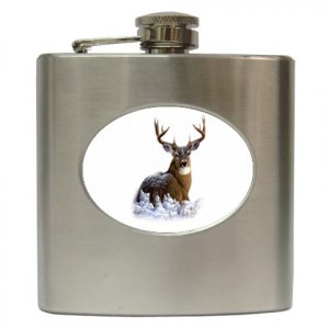 DEER HUNTING Hip Flask Best Man Groomsmen Gift 6 oz. 17138225 kjsweddingshop